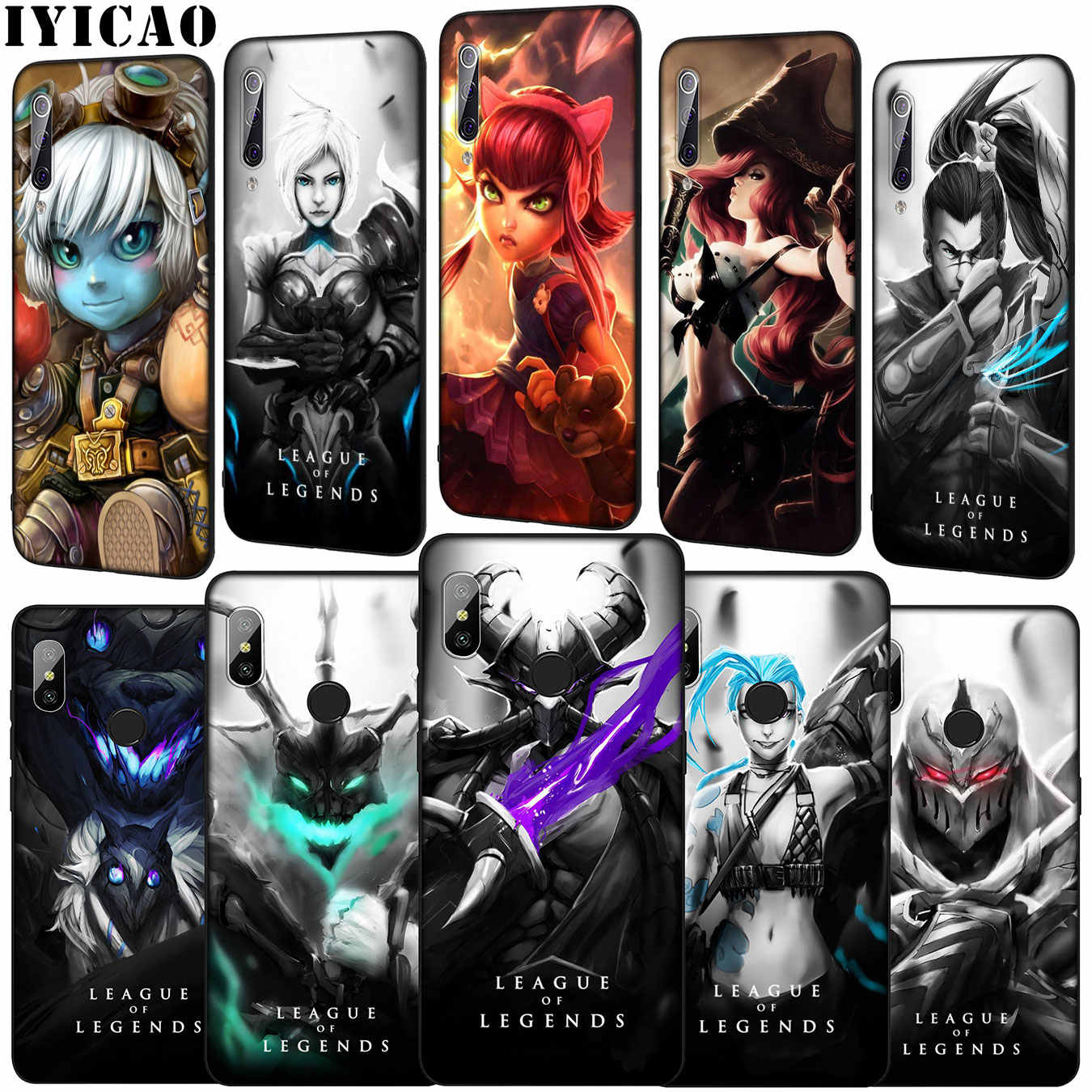 IYICAO lol League Of Legends Soft Phone Case voor Xiao mi mi 9 9 t A3 PRO CC9 CC9E 8 a2 Lite A1 6 6X 5X f1 MAX 3 mi 9 mi 8