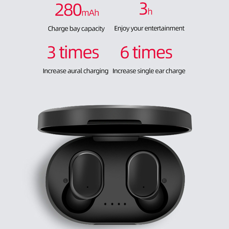 2019 new TWS earbuds PortableSport Life Waterproof for Xiaomi Redmi Airdots Headset Bluetooth V5.0 Earphone with Charging Dock image