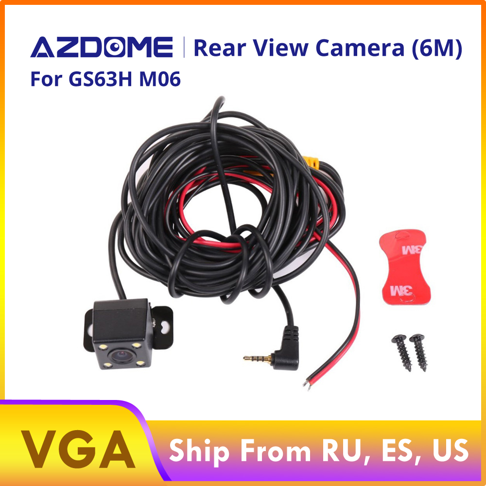 Rear View Camera 2.5mm (4Pin) Jack Port Video Port With LED Night Vision For GS63H M06 M02 A305 Car  Dvr Dash Cam Waterproof