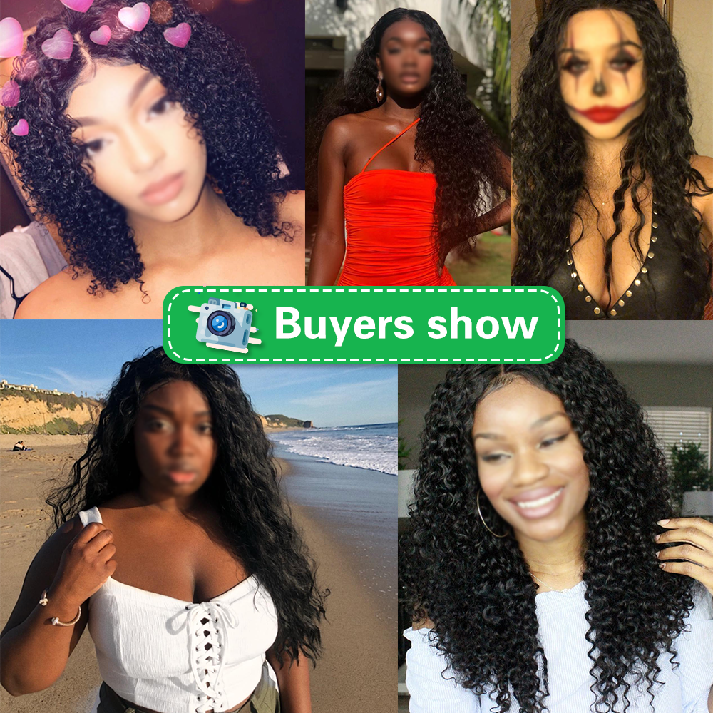 curly wig customers