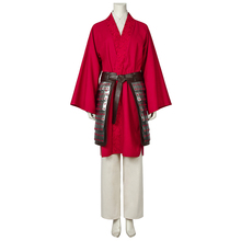 Movie Mulan 2020 Costume Princess Hua Cosplay Red Fancy Dress Chinese Han Fu Adult Halloween Carnival Outfit Custom Made