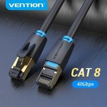 Vention Cat8 Kabel sieciowy przedłużający kategorii 8 RJ45, przewód internetowy krosowy SSTP do połączenia sieci LAN lub Ethernet, można podłączyć modem, router albo komputer, patchcord, 40Gbps