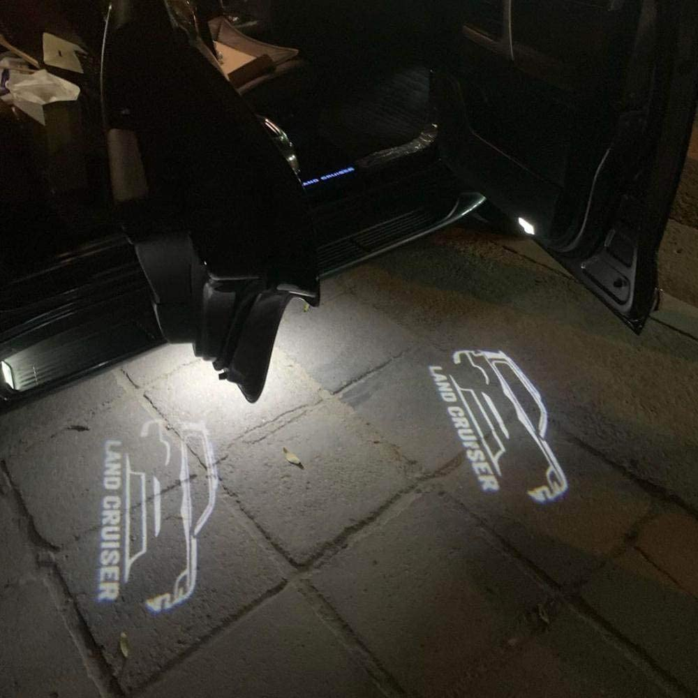 2pcs Car Door Welcome LED Projector Laser Logo Light/Ghost Shadow Lights For toyota land cruiser 200 LC200 10-19 Car Accessories