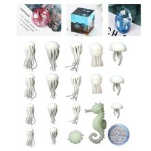 DIY Epoxy Filler Mini Jellyfish Hippocampus Puffer Starfish Sand Shape Filling Material Crafts Jewelry Making Accessories