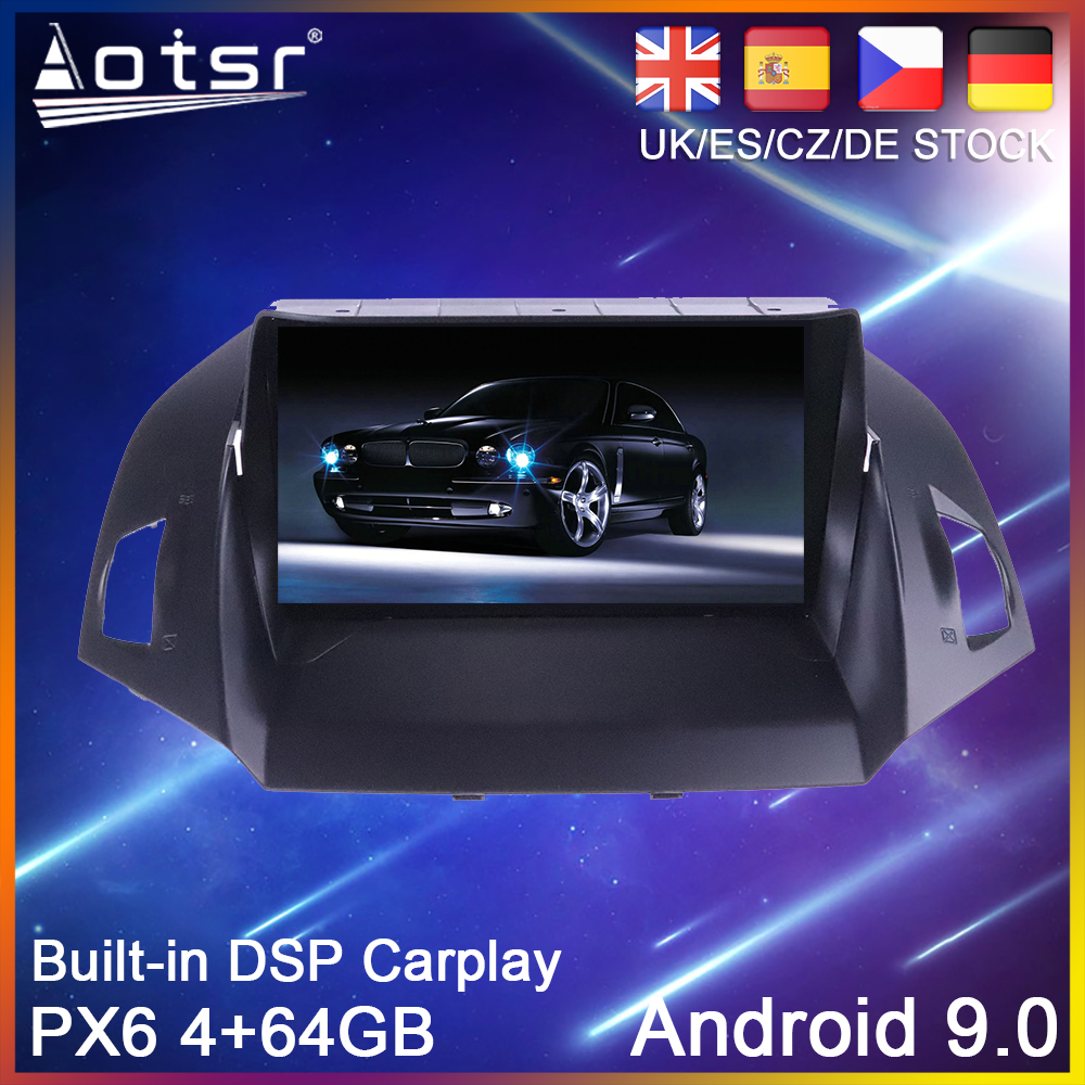 Android 10 PX6 64G Car DVD Player <font><b>GPS</b></font> Navigation For <font><b>Ford</b></font> Kuga 2 <font><b>Escape</b></font> 3 2012-2019 Auto Radio Stereo Multimedia Player HeadUnit image