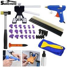 Kit de réparation de carrosserie de voiture, outils de voiture, anti-grêle sans peinture, outils t-bar, pistolet à colle