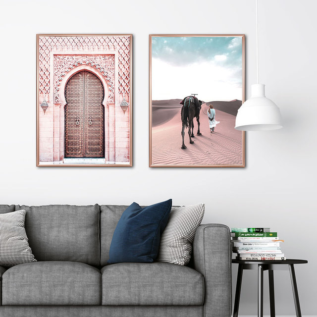 Carteles de Marruecos para sala de estar, póster Nórdico del Sahara, arte de pared islámico, pintura en lienzo moderna, imágenes de pared de moda, sin marco