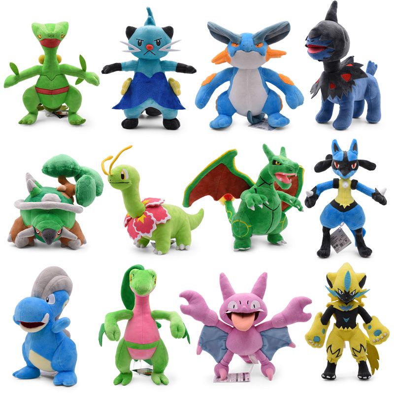 Takara Tomy Anime Pokemon Doll Torterra Snorlax Zeraora Rayquaza Charizard Cartoon Stuffed Peluche Plush Toy Christmas Gifts