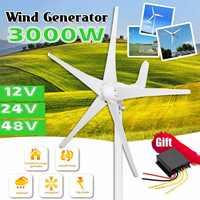 3000W 12 V/24 V/48 V 5 Klingen Wind Turbinen Generator Mit Freies Wind Controller Verwenden für Home Solar Straßenbeleuchtung, boot
