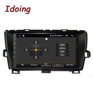 "Image 4 - Idoing 9 ""4G + 64G Octa çekirdek 1Din araba radyo Android multimedya oynatıcı Fit Toyota Prius GPS navigasyon Autoradio 2.5D IPS ekran"