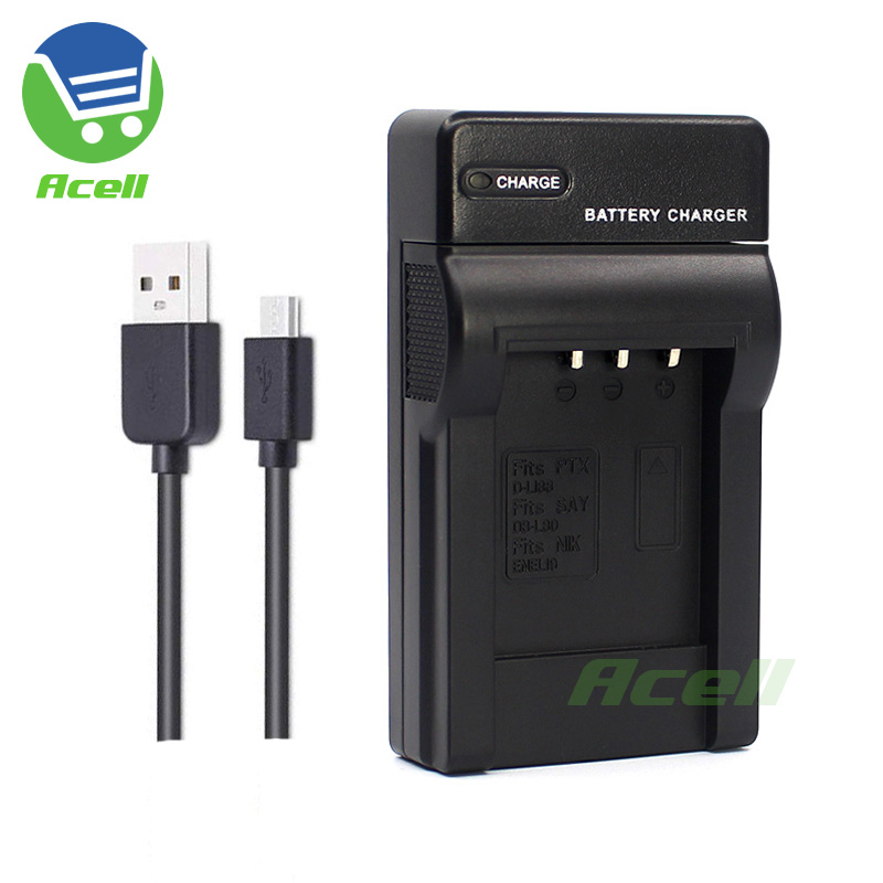EN-EL19 MH-66 USB Charger for Nikon COOLPIX W150 W100 A300 S6400 S5200 S4400 S4200 S4150 S3400 S3300 S3200 S2800 S2750 Camera image