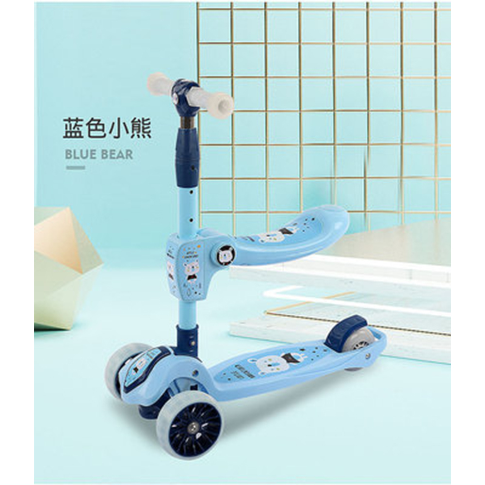 Kids Scooter Kids Scooter Tricycle Toy Car Folding Travel Suitable for 2-7 years old children