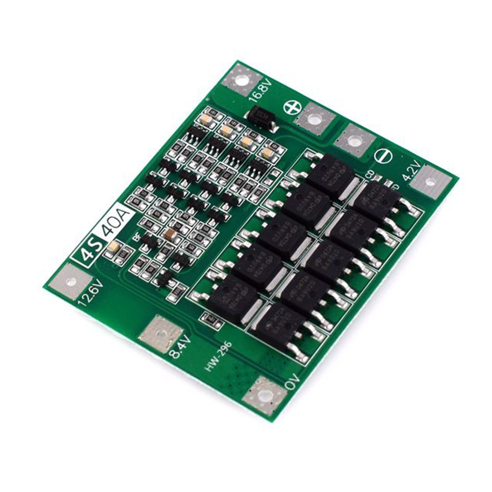 HW-296 16.8V 4S Li-Ion Lithium Battery 18650 Charger PCB BMS Protection Board Lipo Mobile Module with Balancer image