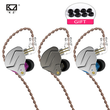 KZ ZSN Pro New 1DD+1BA Hybrid Technology In-Ear Earphone Detachable Noise Cancelling HiFi Earbuds 100% original uiisii hi 905 1dd 1ba hybrid technology earphone super bass stereo music hifi with mic 3 5mm headset for iphone pc