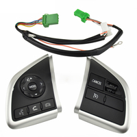 Spare Multifunction Buttons Switch Set Auto Steering Wheel Cable Replacement Durable Parts Phone Cruise Control For Mitsubishi