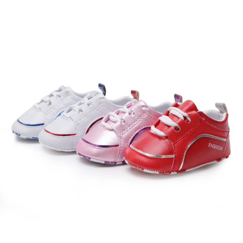 Fashion Mocassin Babies Shoes Slip-On Solid Unisex Boys Girls New Born Shoes For Baby Soft Handmade First Walkers PU Leather