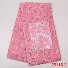 Dziecko różowy aksamit koronki afryki koronki tkaniny hurtownia nigerii tiul siatki koronki sekwencji koronki tkaniny dla materiałów ślubnych APW2911B