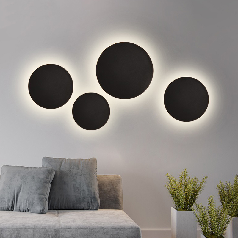 Modern Indoor Fashion LED Wall Lamp Living Room Decoration Wall Light Home Lighting Fixture Loft Stair Light Aluminum AC90 260VLED Indoor Wall Lamps   -