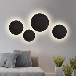 Image 1 - Modern Indoor Fashion LED Wall Lamp Living Room Decoration Wall Light Home Lighting Fixture Loft Stair Light Aluminum AC90 260V