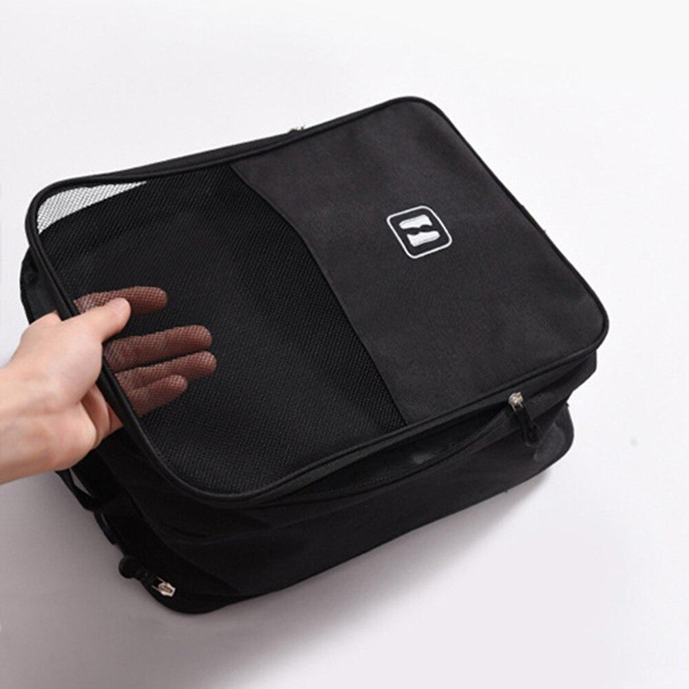 Portable Trolley Travel Shoe Bag Travel Waterproof Shoe Storage Bag Luggage Hanging Organizer Outdoor Packaging Polyester