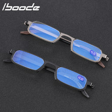 Iboode-gafas de lectura ultraligeras para ordenador, lentes ópticas de Metal con luz azul, a la moda, portátiles