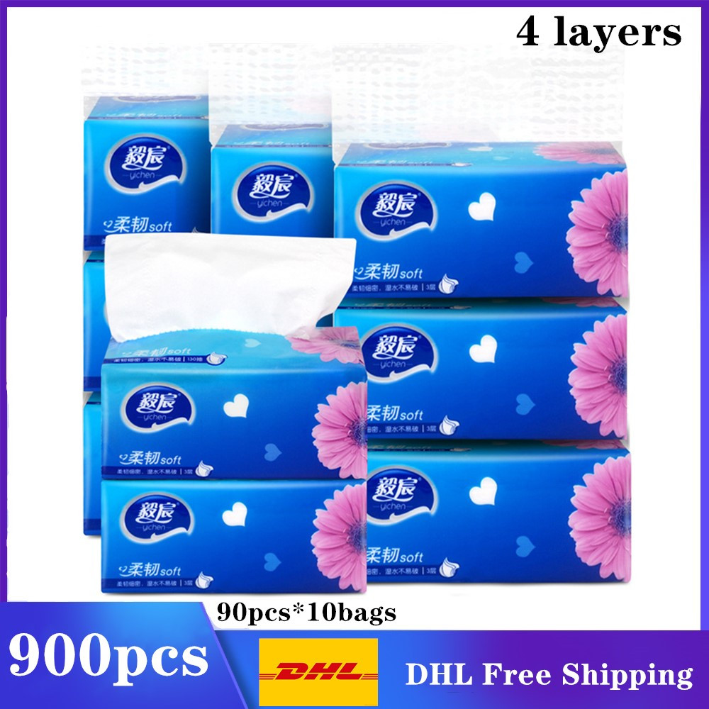 900 Pcs DHL Free Shipping Soft Paper Napkin Nature Clean Party Supplies Disposable Bamboo Dinner Paper Tissues For Restaurant