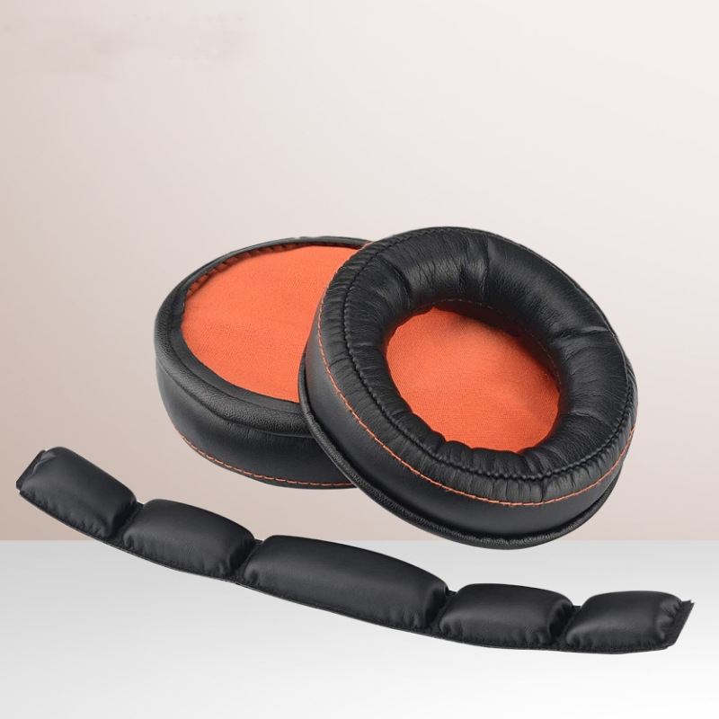 For <font><b>SteelSeries</b></font> <font><b>Siberia</b></font> 840 <font><b>800</b></font> Wireless Headphones Headset Repair Parts Replacement Ear pads Cushion Cup Cover Earpads Headband image