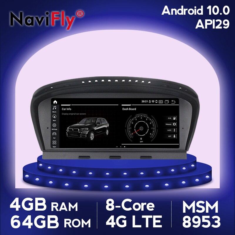 NaviFly Android10 4G RAM 64G ROM car radio multimedia player for BMW 5 Series E60 E61 E63 E64 E90 E91 E92 gps navigation