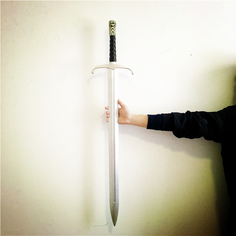 104cm Cosplay Game Of Thrones Sword Ice Needle Sword Icefield Wolf Sword Cosplay Prop Weapon Kids Toys