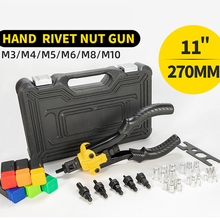 Multifunctional Hand Rivet Gun Non-slip Handle For Riveting Nut Tool M3/M4/M5/M6/M8/M10 With Toolbox Lightweight&Labor-saving