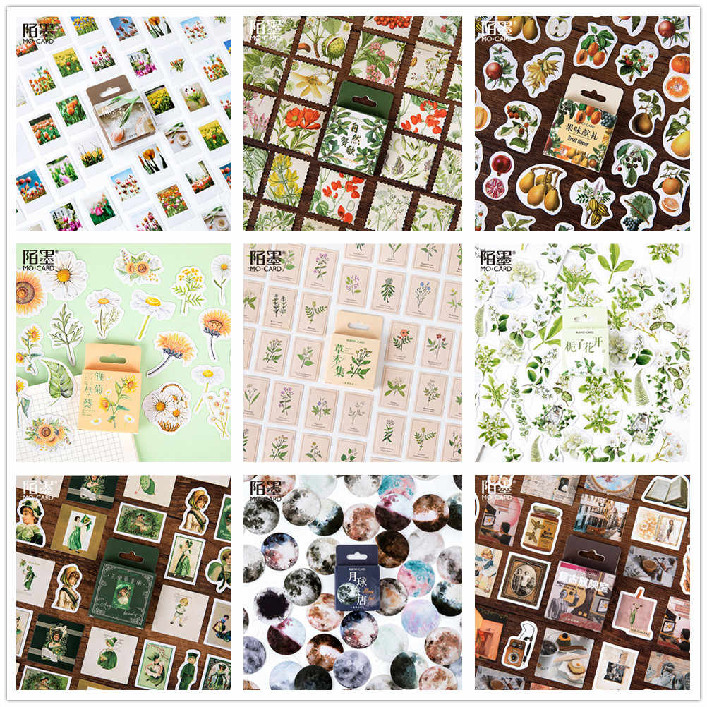 (46 stilleri seçebilirsiniz) 2020 yeni çiçekler kağıt çıkartmalar DIY dekorasyon için Scrapbooking Washi bant Vintage düğün etiket