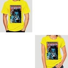 Okabe Rintarou Tee Camiseta Quadrinhos Tampa Doom Patrol O Principal Homem Lobo Caçador de Aliens Clothestee Impressão Preto T Shirt Homens