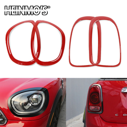 Car Housing Decoration Styling Headlight Head Tail Rear Frame Ring Cover Stickers Accessories For Mini Cooper JCW Countryman F60