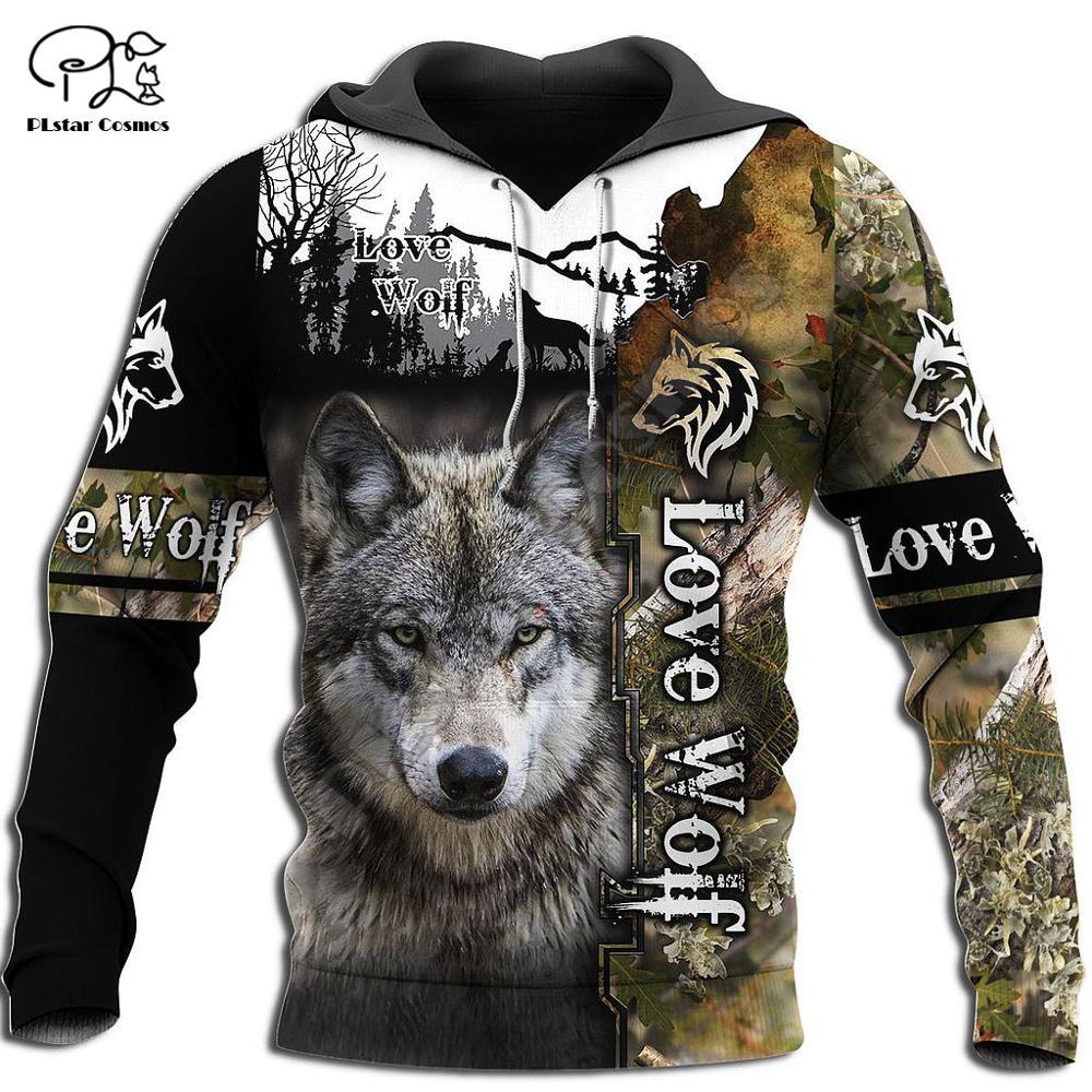 PLstar Cosmos, животные, охота, волк, охотник, тату-символы, уличная одежда Harajuku, новинка, модные толстовки/свитшоты с принтом 3DPrint/на молнии/куртка ...