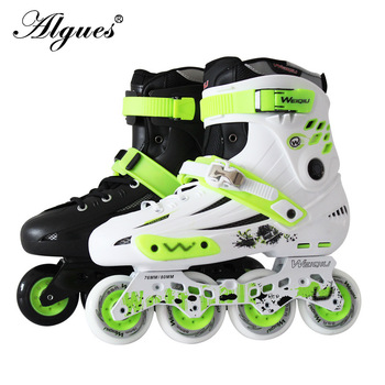 Roller Skates Adult Inline Roller Men and Women Professional Flat Skates Adjustable Size 4 Wheels Skating Sneakers Boots цена 2017