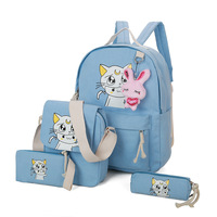 4Pcs Anime /Sailor Moon/ Bag Teenager Girls School Backpack/Pencil Bag/Messenger Bag Cartoon Canvas Crossbody Bag