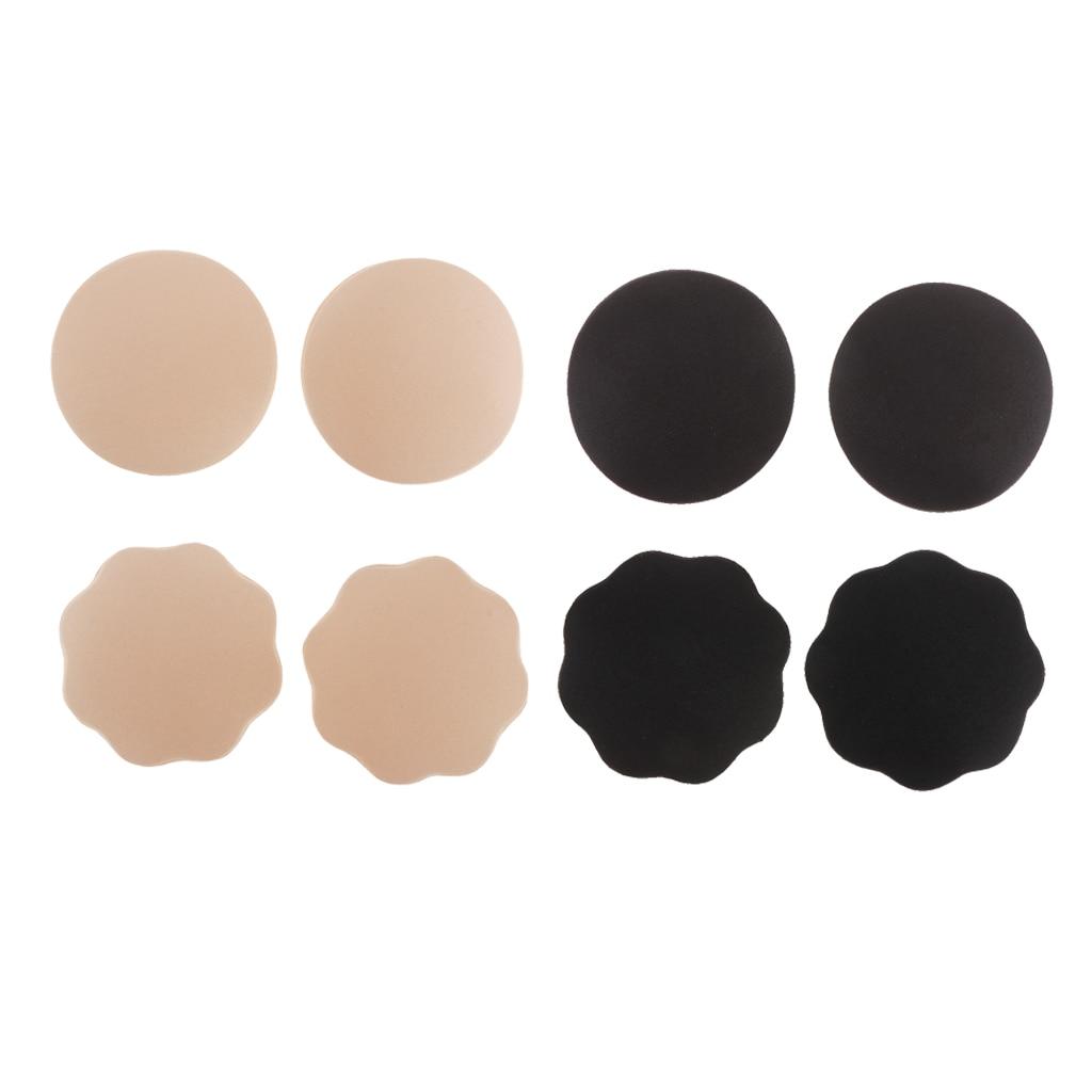 1 Pair of Nippleless Cover Premium Adhesive Breast Petal Flower Shaped Nipple Cover Concealer Pads