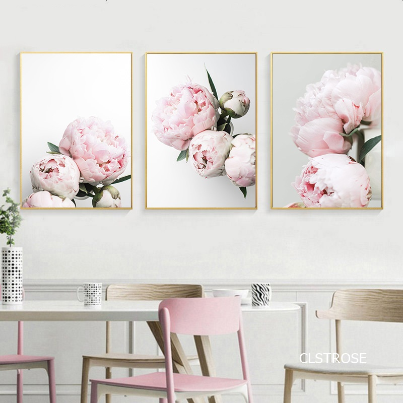 Nordic Modern Style Small Pure And Fresh Flowers And Plants Posters Art Canvas Pictures For Living Room Decor Painting Unframed