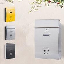 유럽 빌라 편지 상자 야외 방수 사서함 벽 마운트 농촌 크리 에이 티브 편지 상자 요정 정원 신문 상자 장식