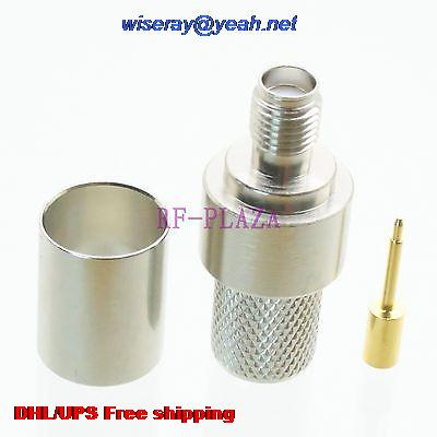 DHL/EMS 200pcs Connector RPSMA Female Crimp RG8 LMR400 RG213 RG165 RG393 Cable Nickel -A3
