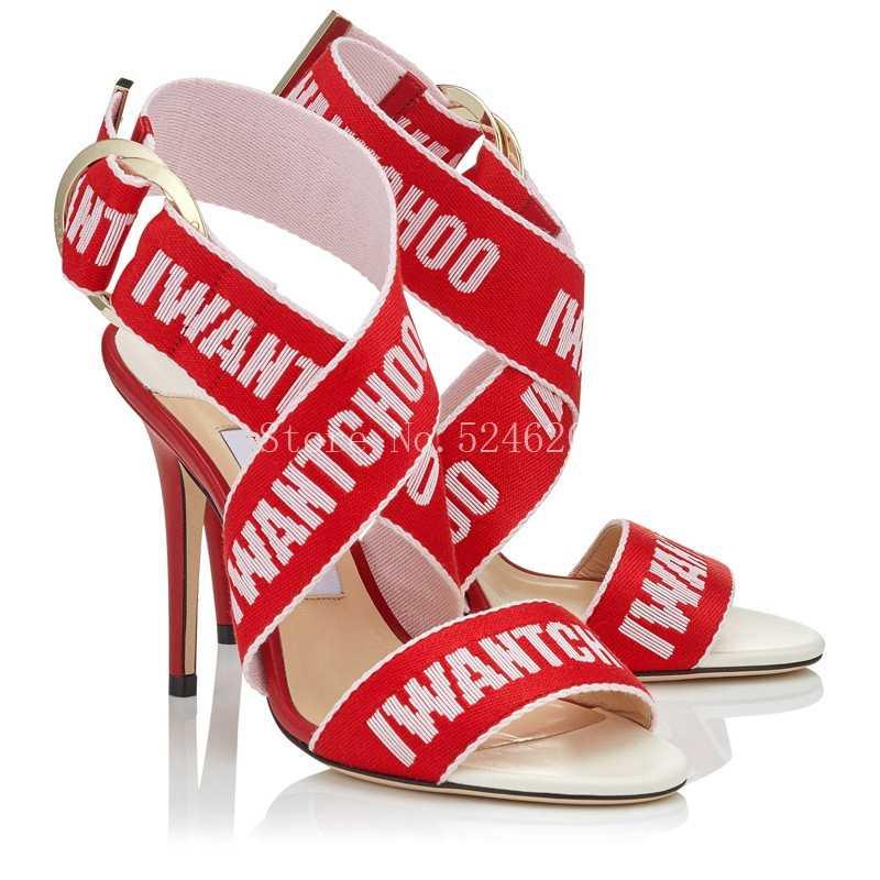Sandalias Mujer Crossover Sandali Gladiatore Scarpe Da Donna Dell'involucro Della Caviglia Stileto Degli Alti Talloni di Marca di Lusso Del Partito Peep Toe Donna