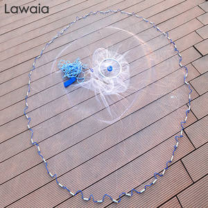 Lawaia Network Hand-Throwing Fishing-Net Ring-Style Nylon-Line Monofilament Folding Aluminum