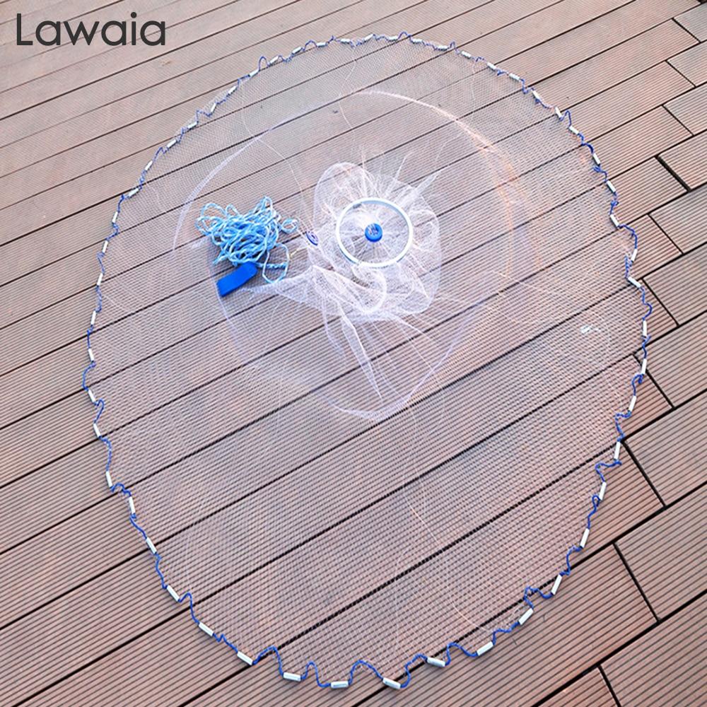 Lawaia 240cm-720cm Fishing-net 300cm Fishing Net American Sign Cast Network Hand Net Network Net Folding Network