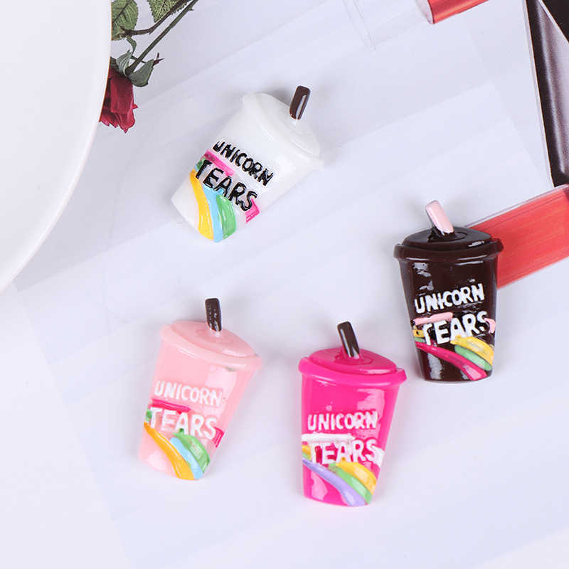 DIY Kit Accesories Box Toy For Children Slime Supplies Rainbow Coffee Cup Polymer Slime Charms Modeling Clay 10Pcs/Lot