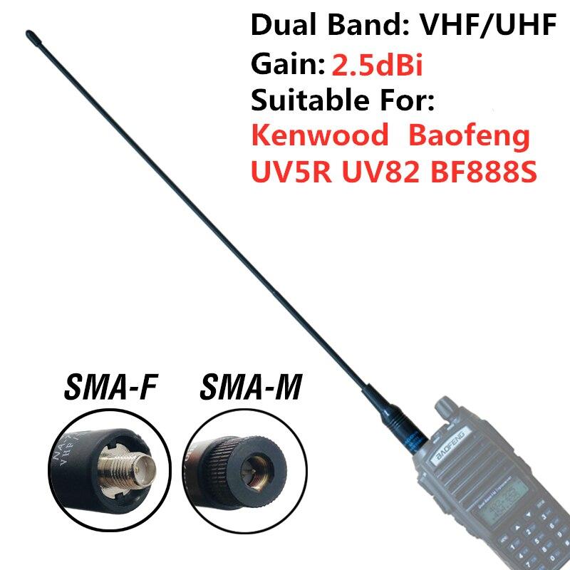 100% Original Nagoya NA-771 Antenna SMA-F Female Dual Band For Kenwood BaoFeng UV-5R UV-82 BF-888S Walkie Talkie Two Way Radio