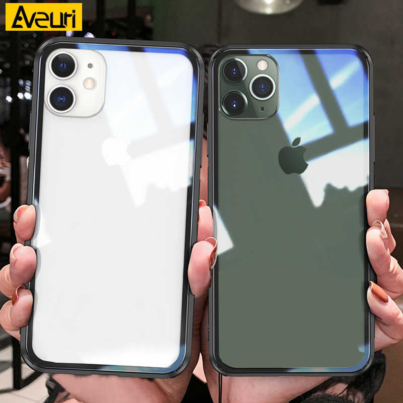 For iPhone 11 Pro Max 2019 iphone11 Coque de téléphone en verre Transparent i pour iPhone 11 Pro Max iPhone X XR XS Max étuis pour iPhone 6 s 6 s 7 8 Plus Coque
