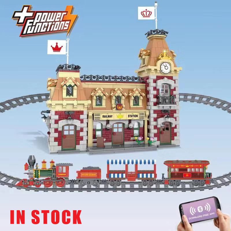 3362pcs J11001 Train And Station Compatible 71044 Building Bricks Educational Toy Christmas Best Xmas Gifts