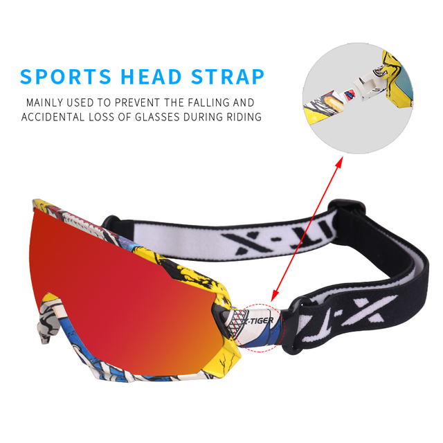 X TIGER Polarized Men Cycling Glasses Photochromic MTB Bike Glasses Mountain Bicycle Sunglasses Goggles Outdoor Cycling
