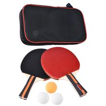 цена Training Ping-pong Bat Double Beating for Teaching, Two Ping-pong Rackets to Assemble Three Balls Table Tennis онлайн в 2017 году