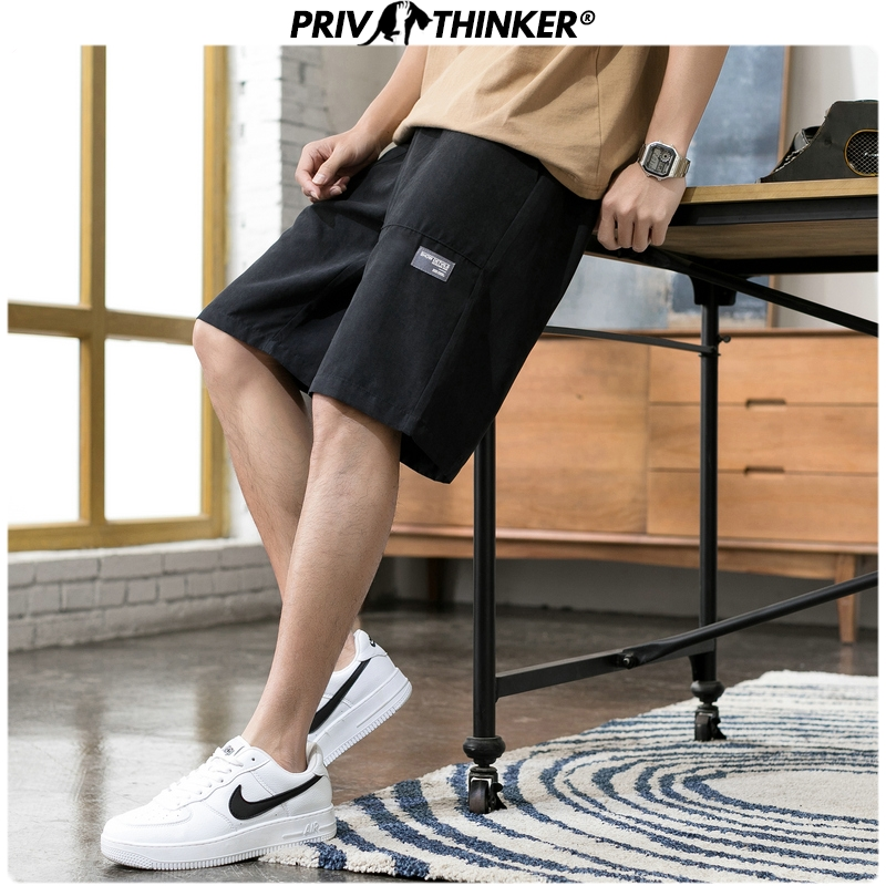 Privathinker 2020 Men Pockets Summer Casual Shorts Men's Oversize Colorful Sweatpants Male Fashions Korean Knee Length Shorts